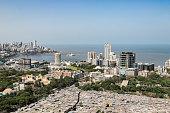 istock Rooftop Image of Slums, Buildings and Neighboring Community - Mumbai, Maharashtra 1078903962