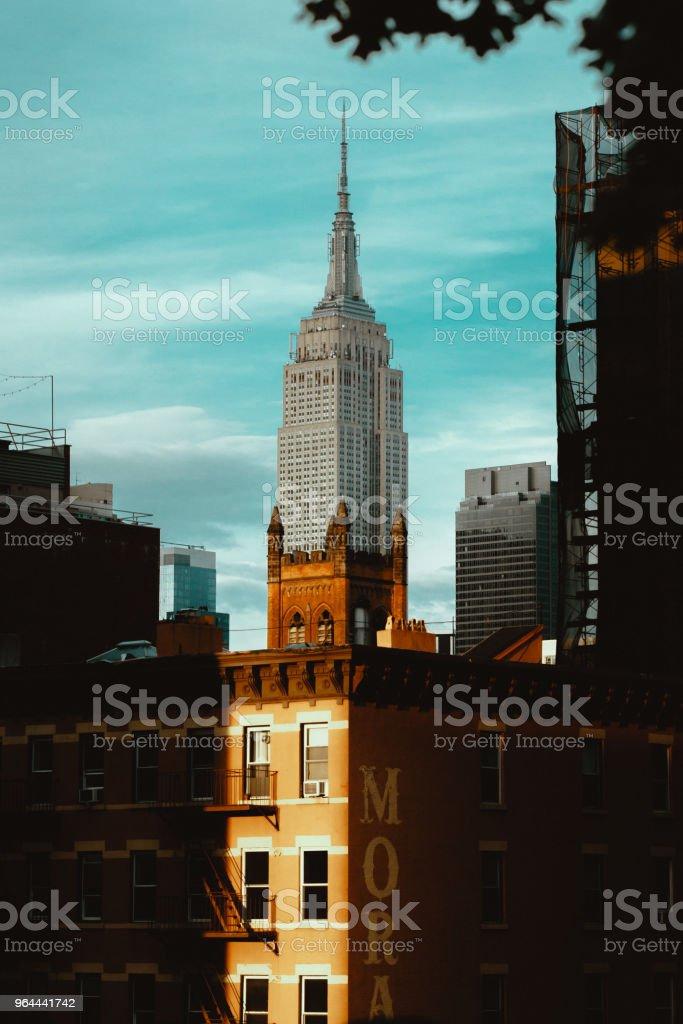 No piso superior Manhattan, Nova Iorque - Foto de stock de Arquitetura royalty-free