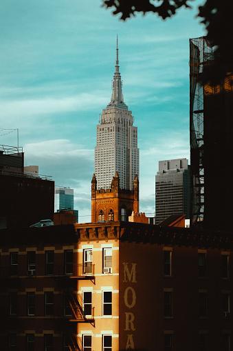 Foto de No Piso Superior Manhattan Nova Iorque e mais fotos de stock de Arquitetura