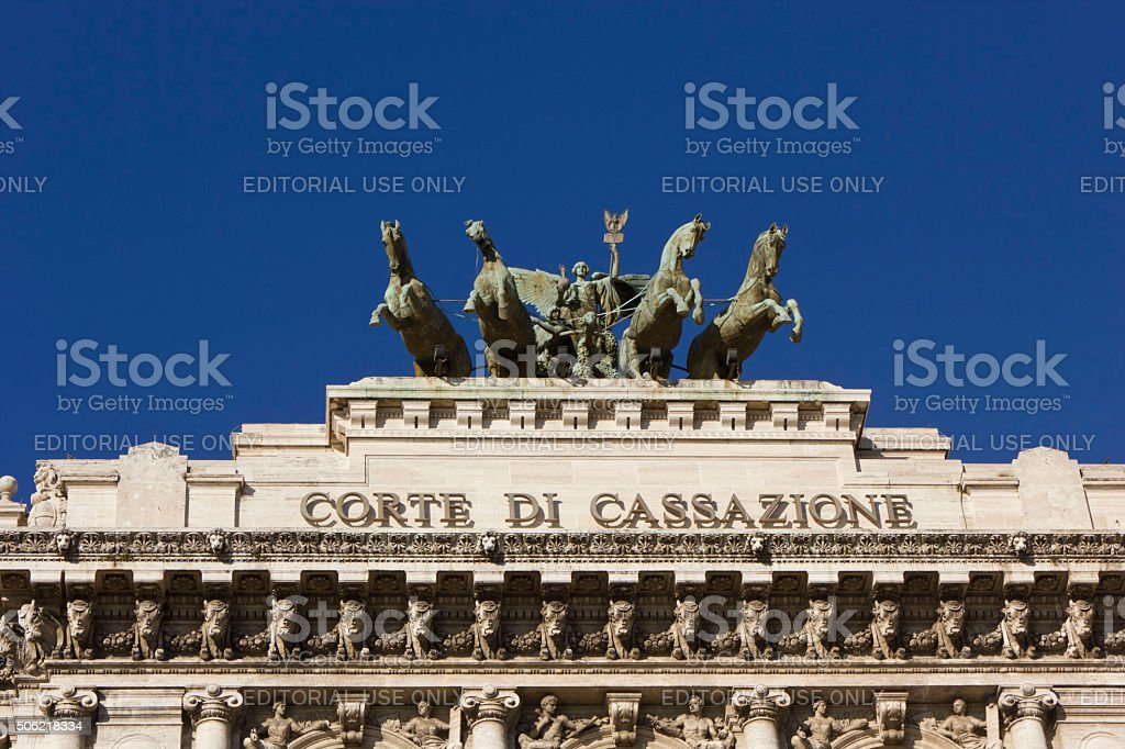 rooftop of Palace of Justice in Rome stock photo