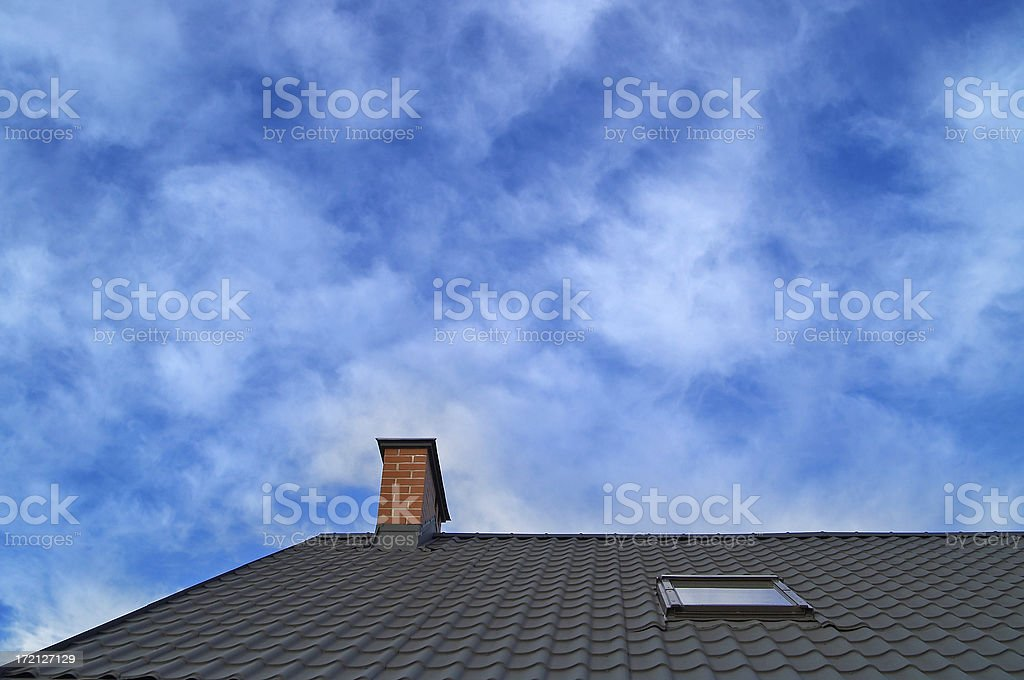 Rooftop on sky royalty-free stock photo