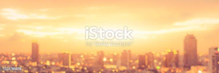 Los Angeles Downtown at dusk, California stock photo