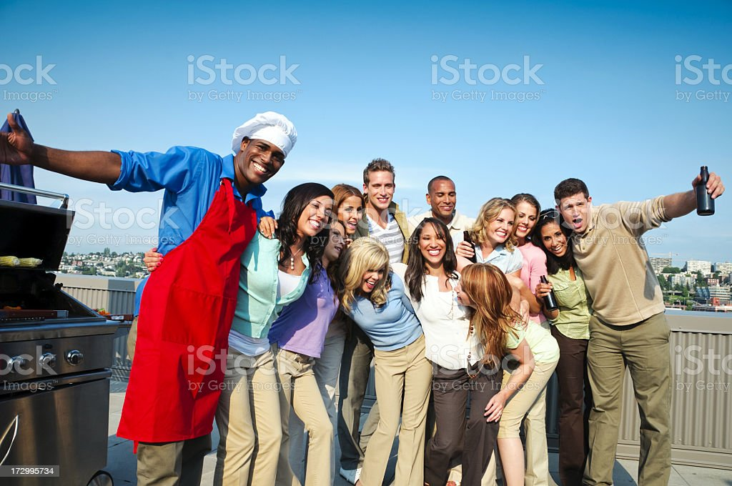 Rooftop Party royalty-free stock photo