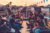 istock Rooftop party 865866986