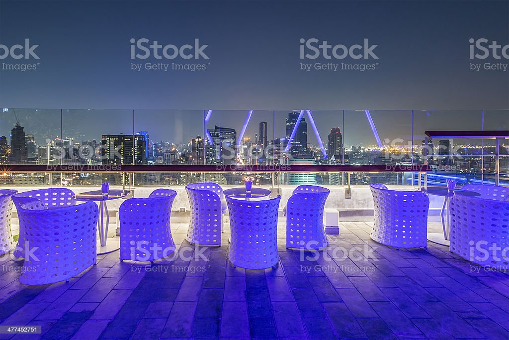 Rooftop Restaurant royalty-free stock photo