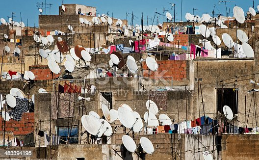 istock Rooftop scene in Fez, Morocco 483394195