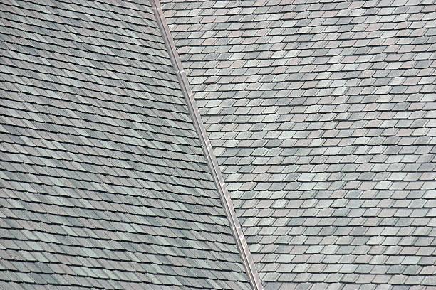 Rooftop shingles stock photo