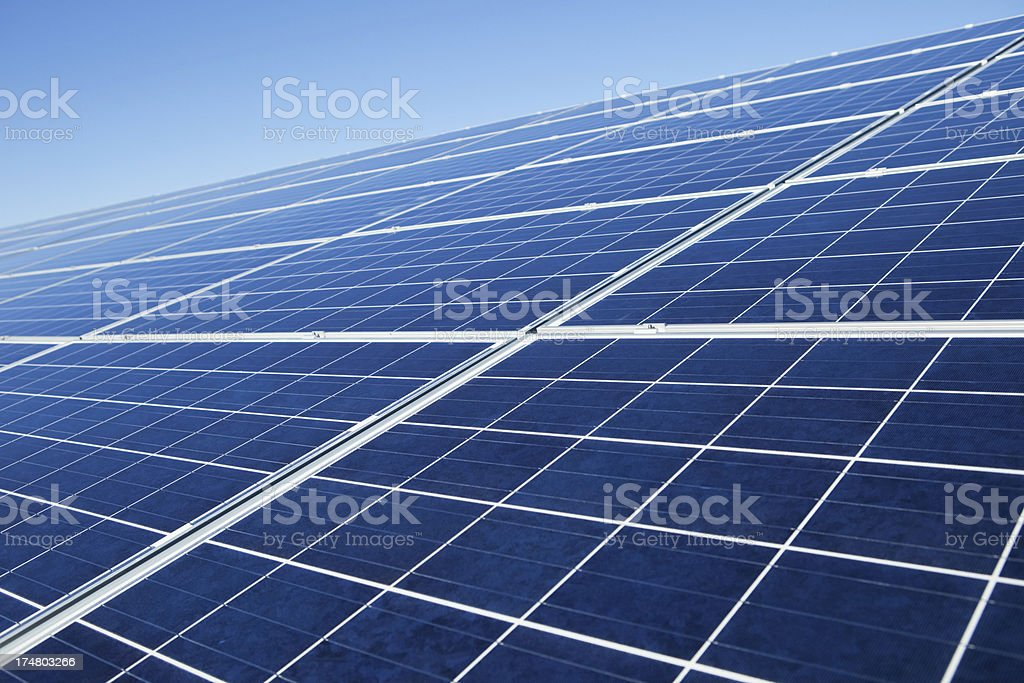 Rooftop Solar Panel Array royalty-free stock photo