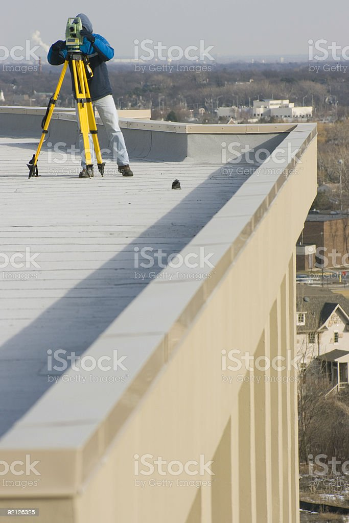 Rooftop Survey royalty-free stock photo