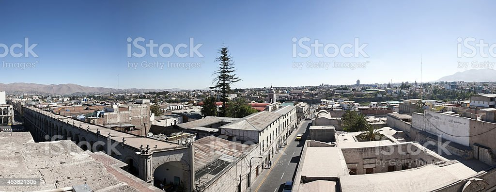 Rooftop view across Peruvian city of Arequipa royalty-free stock photo