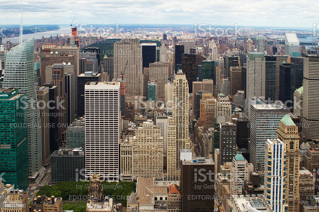 Rooftop view of New York City. foto royalty-free