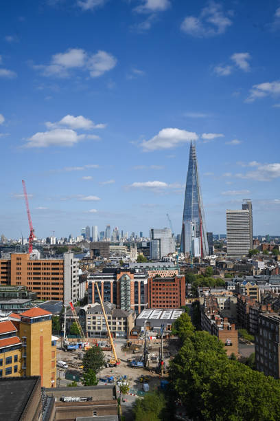 Rooftop view of the Shard stock photo