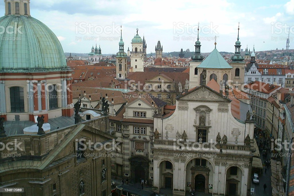 Rooftops and spires. Prague. royalty-free stock photo