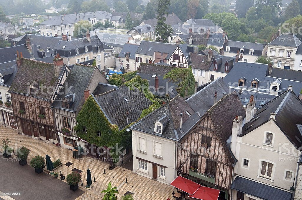 Rooftops in Amboise royalty-free stock photo