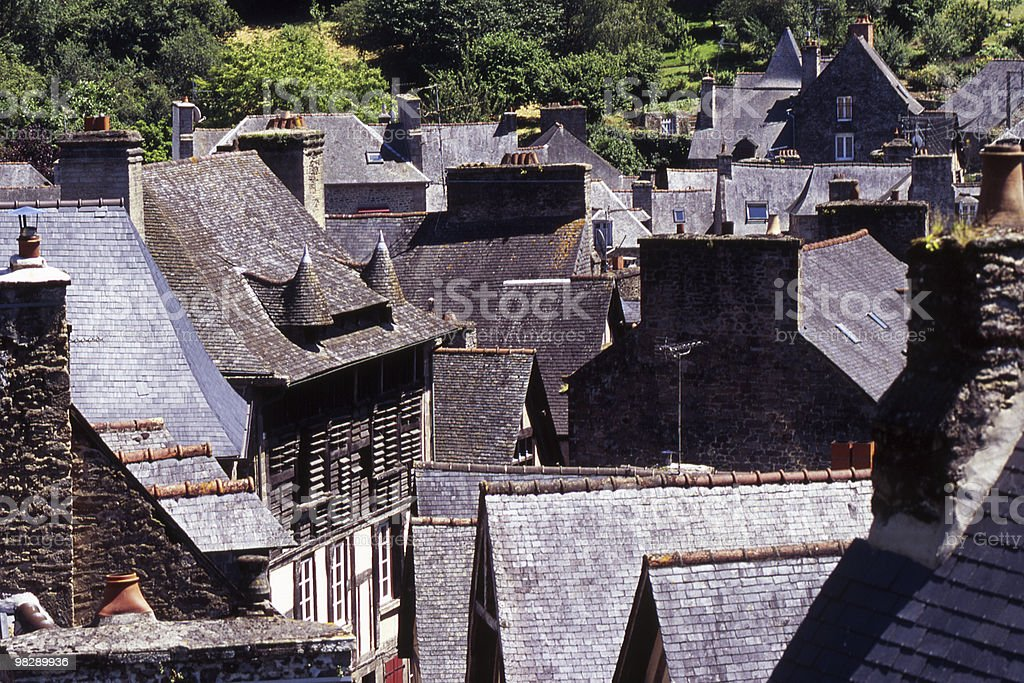 Rooftops in Dinan, Brittany, France royalty-free stock photo
