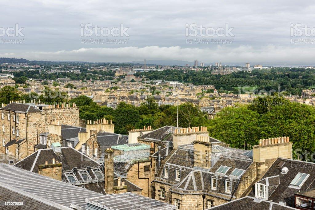 Rooftops in Edinburgh, Scotland stock photo