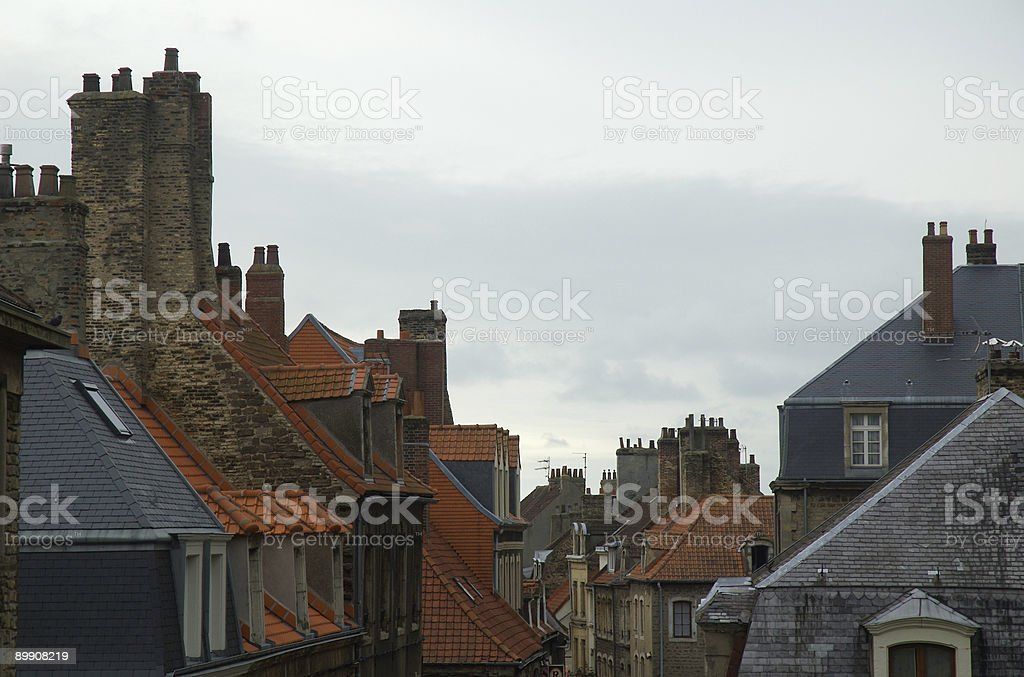 Rooftops in France stock photo