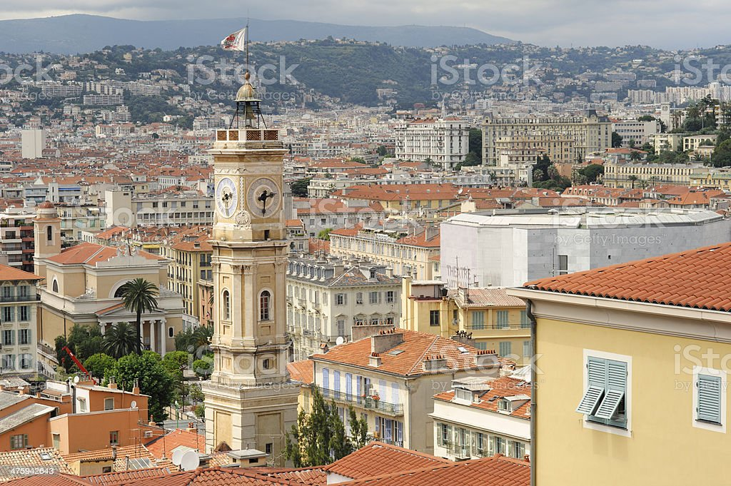 Rooftops in Nice, France royalty-free stock photo