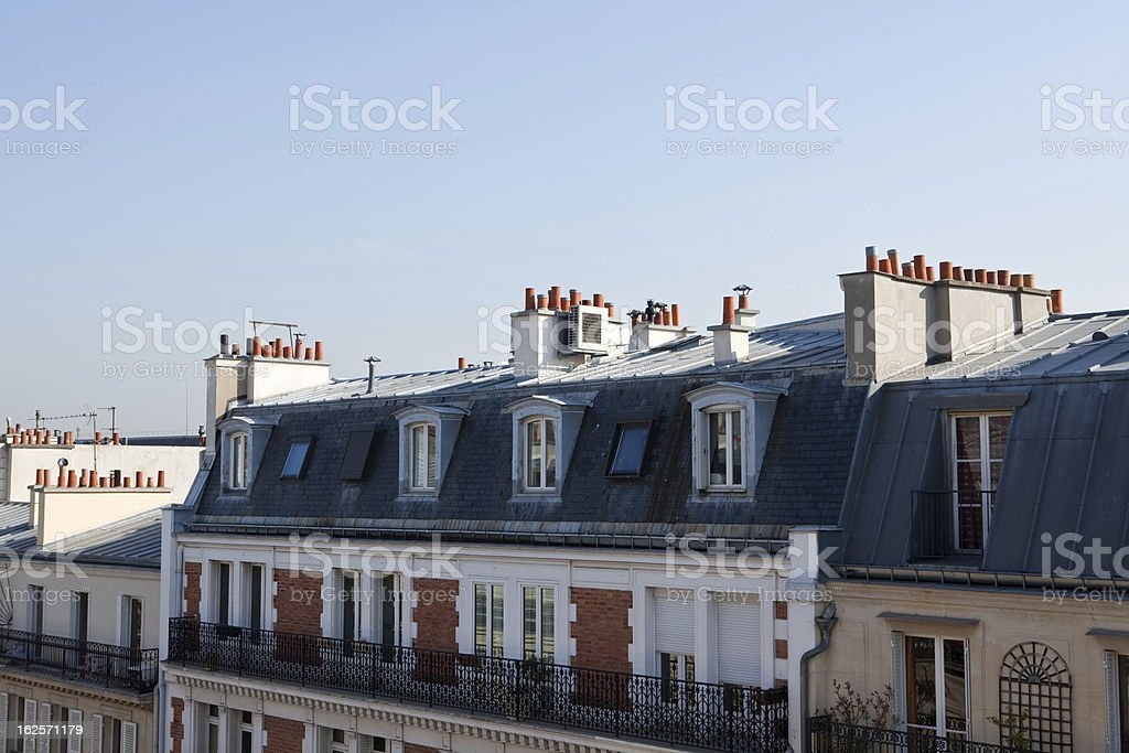 rooftops in Paris royalty-free stock photo