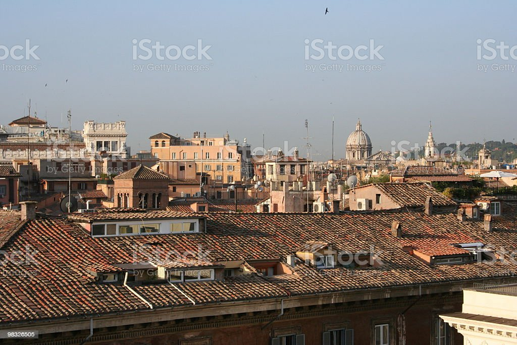 Rooftops in Rome royalty-free stock photo