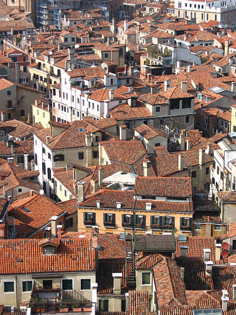 Rooftops in Venice stock photo