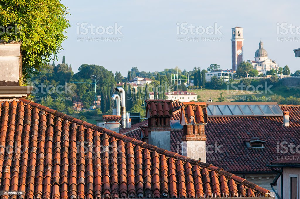 Rooftops in Vicenza stock photo