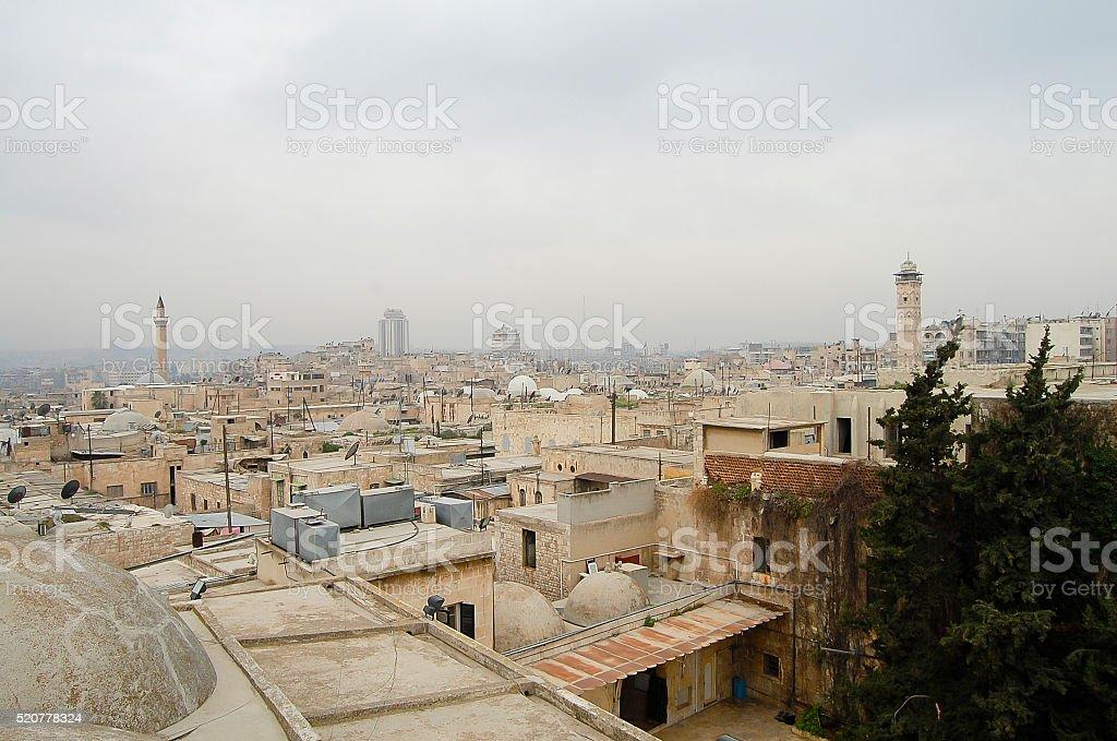 Rooftops of Aleppo City - Syria stock photo
