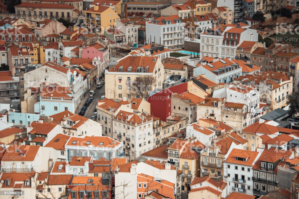 Rooftops of Lisbon - foto stock