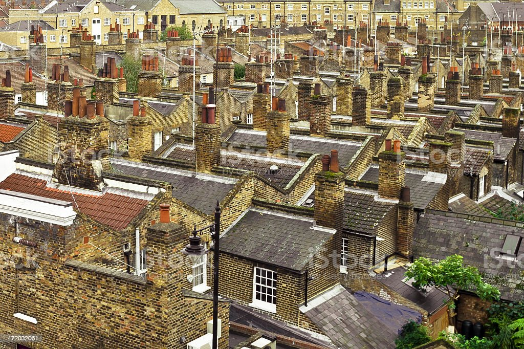 Rooftops Of London stock photo