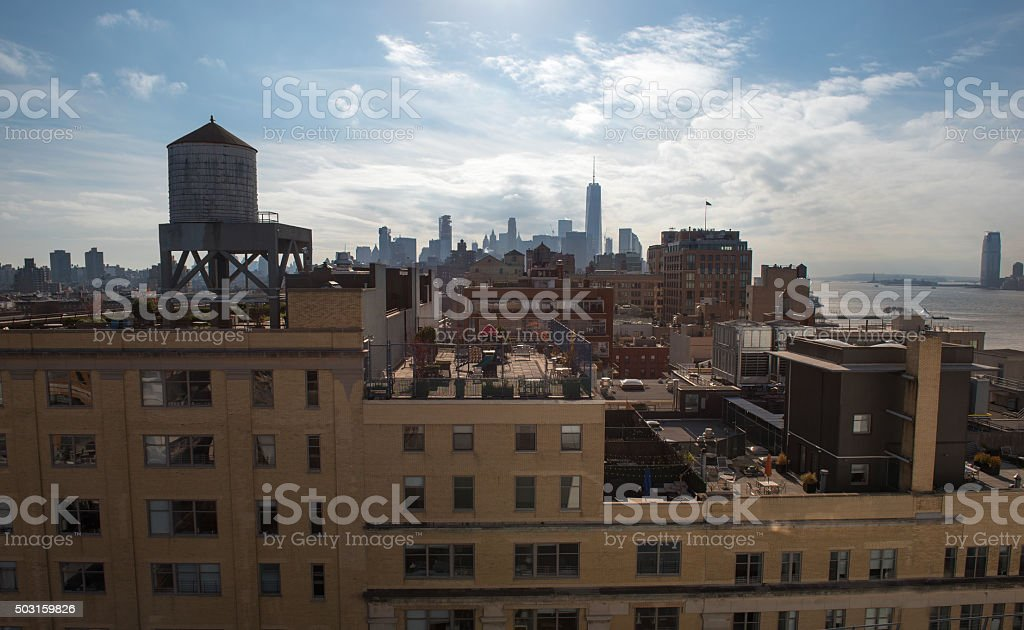Rooftops of Manhattan stock photo