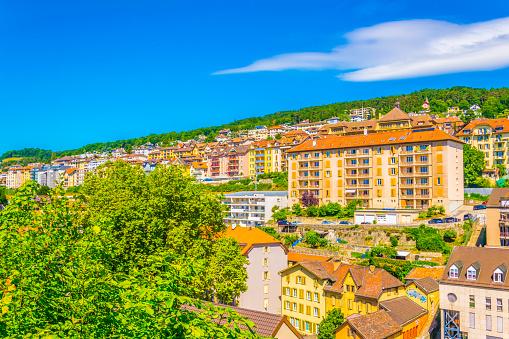 Rooftops of Neuchatel in Switzerland