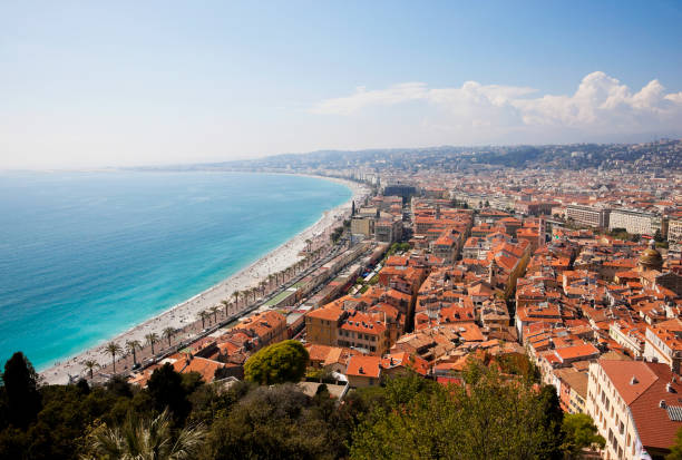 Rooftops of Nice, France stock photo