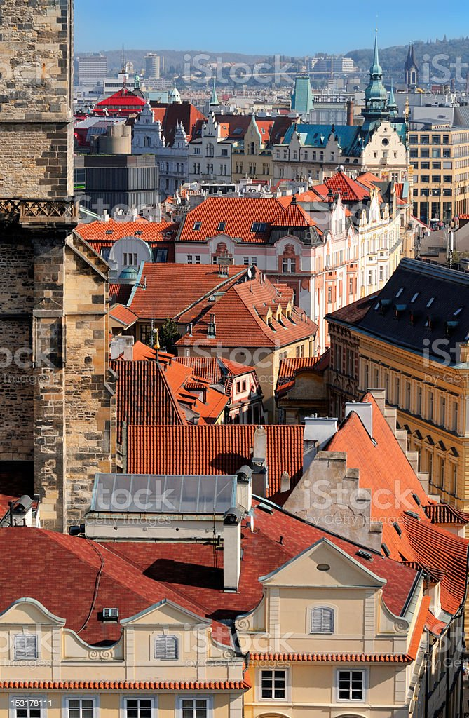 Rooftops of Old Prague royalty-free stock photo