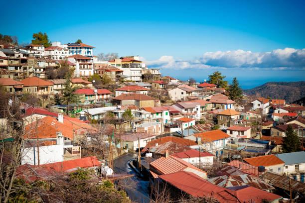 rooftops of pedoulas. nicosia district, cyprus - cyprus стоковые фото и изображения