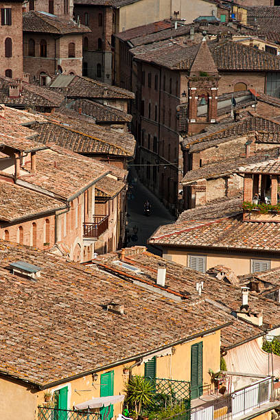 Rooftops of Siena, Italy stock photo