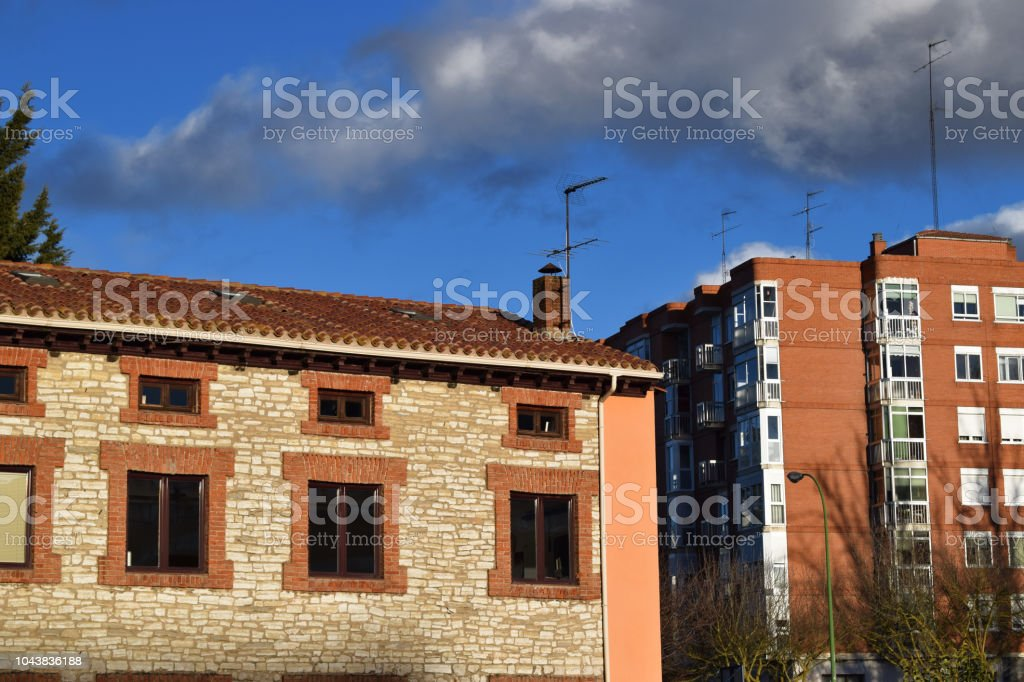 Rooftops on a summer day. stock photo