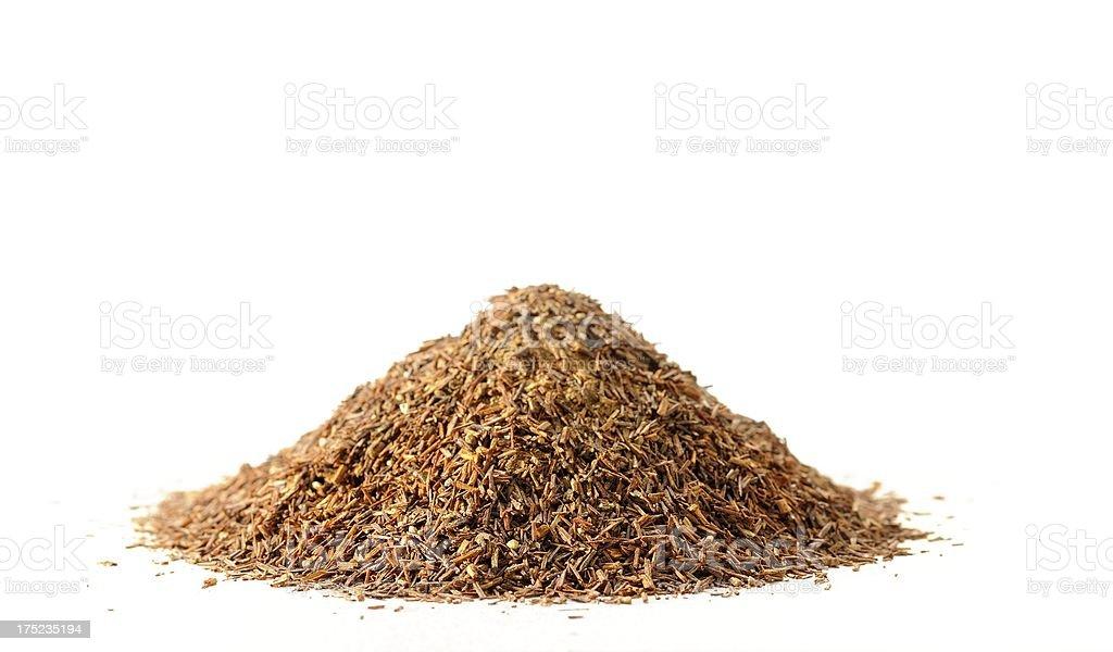 Rooibos tea isolated on white royalty-free stock photo