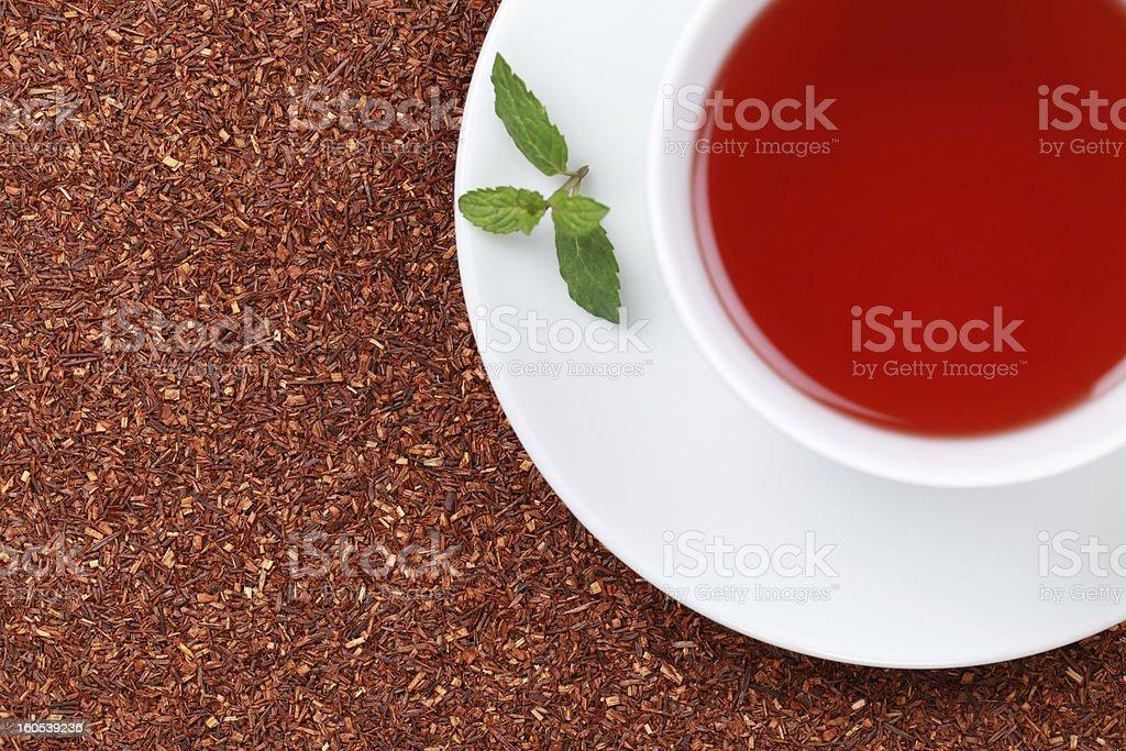 Rooibos Tea with lemon balm stock photo