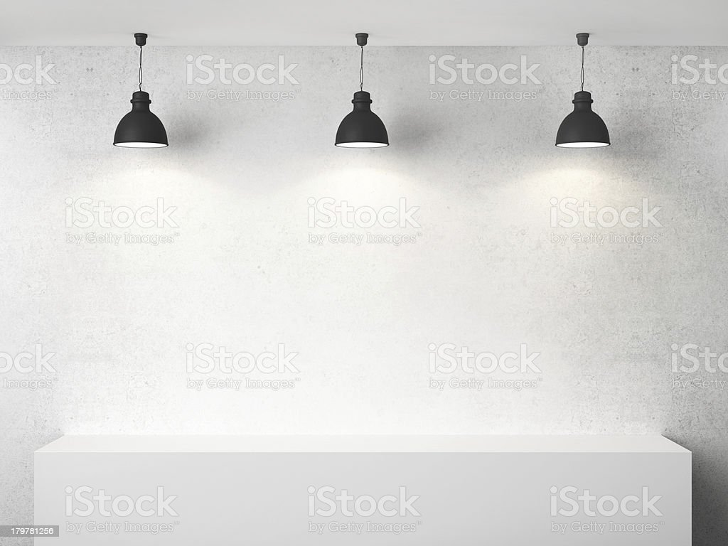 room  and three lamp stock photo