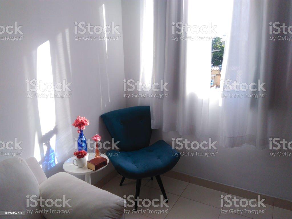 Room, armchair and living room - Sala de estar, poltrona e conforto stock photo