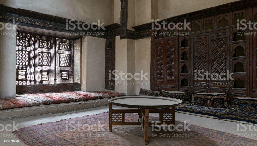 Room at El Sehemy house, Cairo, Egypt stock photo
