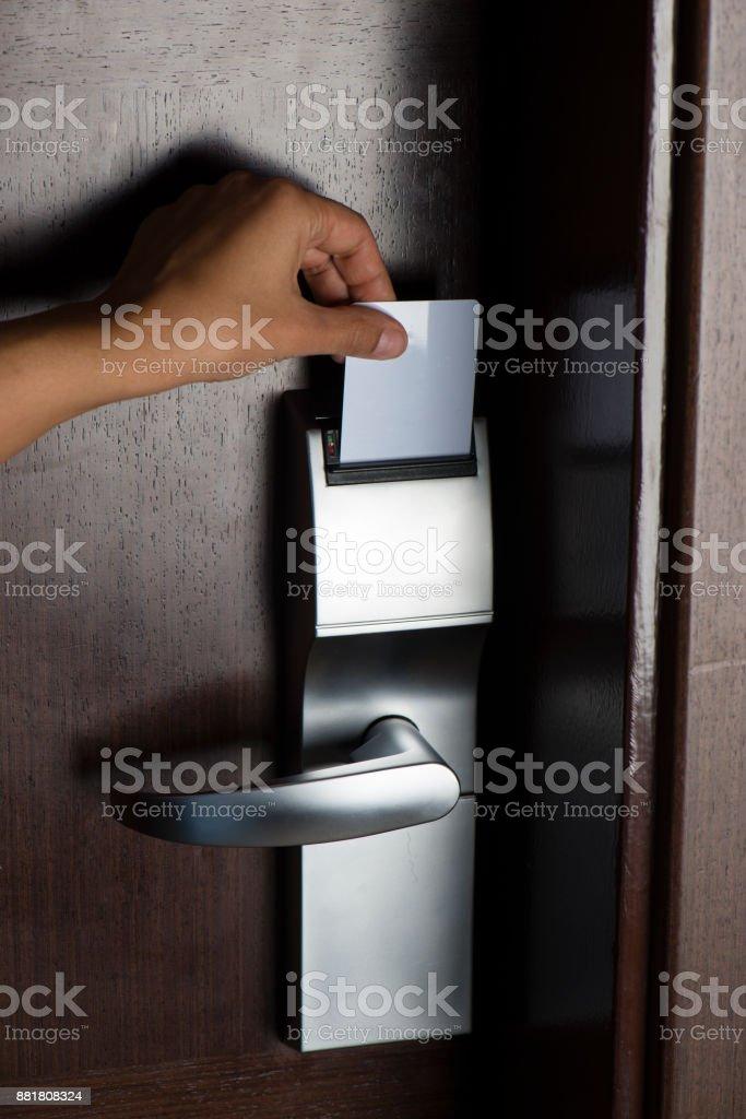 Room Card Key stock photo