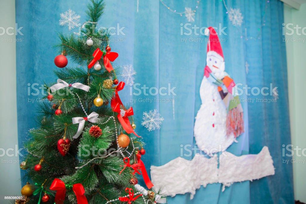 Room Christmas Tree Xmas Home Interior Decoration Toys Decorations Photo Zone
