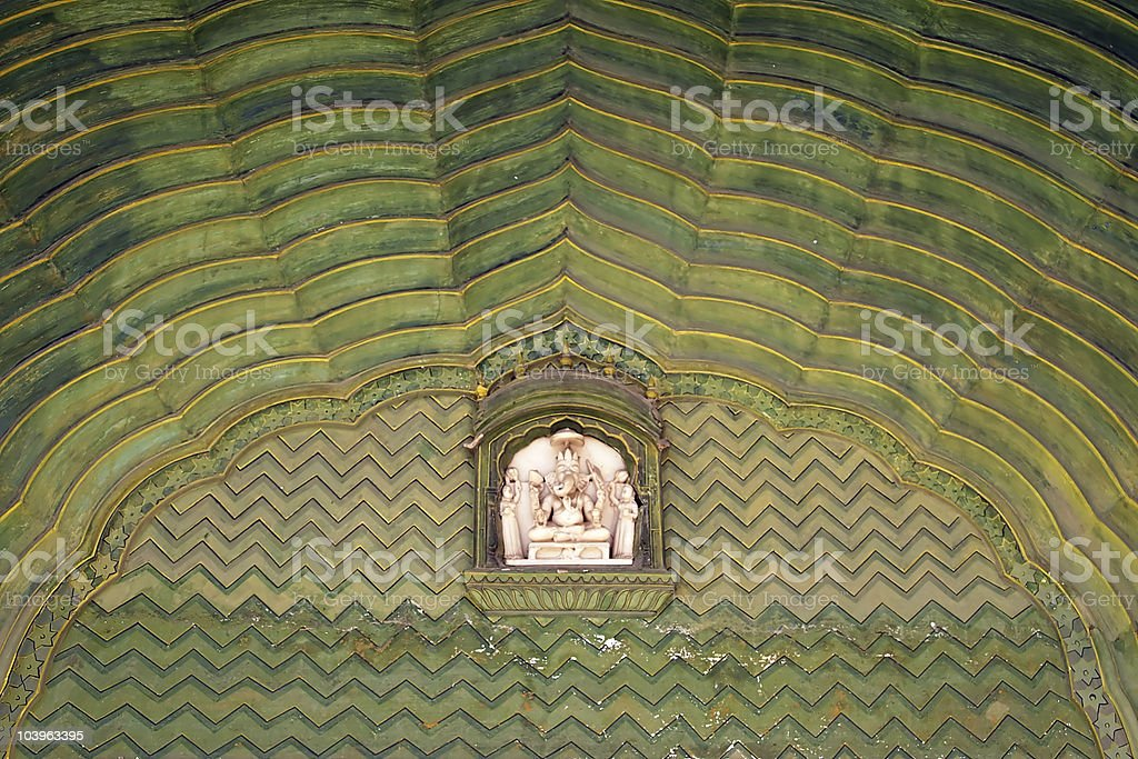 Room decoration in Jaipur city palace, India royalty-free stock photo