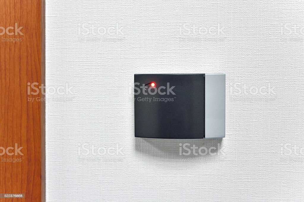 Room Door Card Reader stock photo