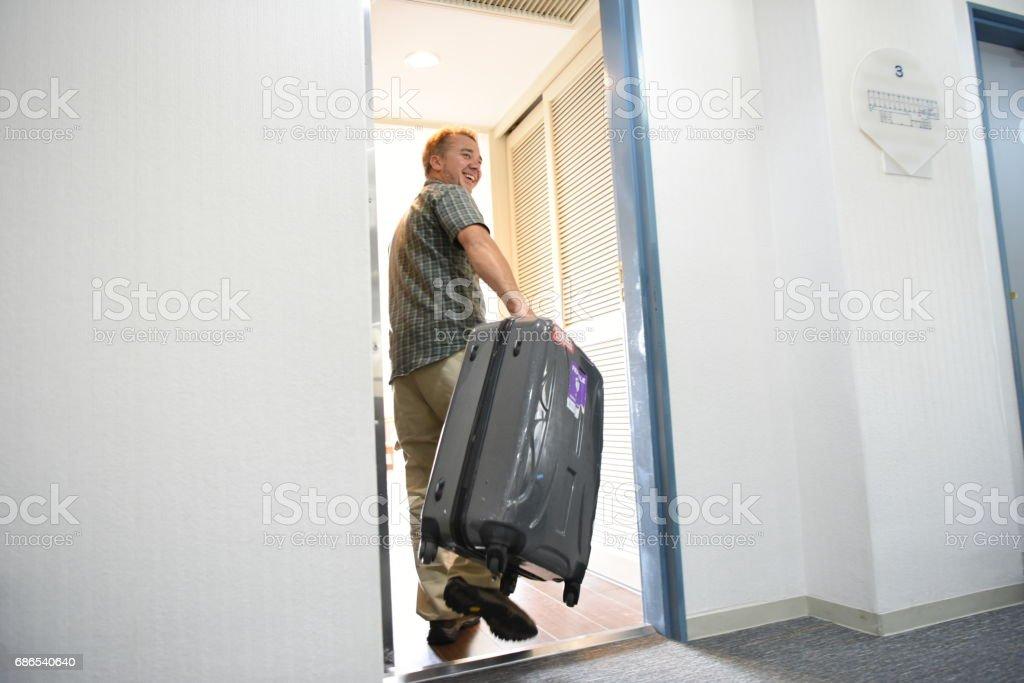 Room door royalty-free stock photo