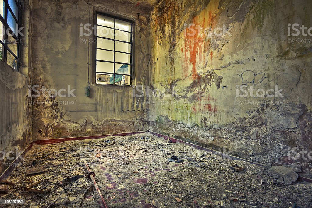 Room in Abandoned Factory, HDR royalty-free stock photo