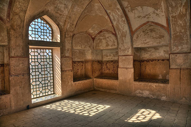 Room in Ali Qapu Palace, Esfahan, Iran stock photo