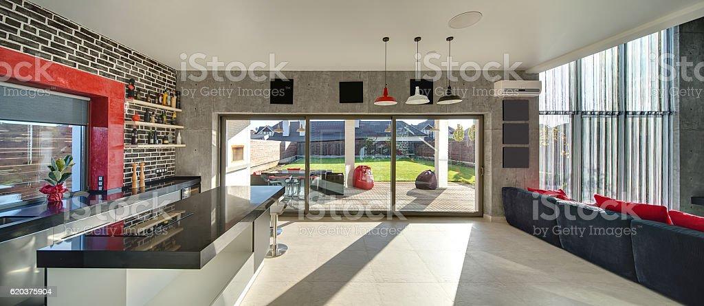 Room in modern style zbiór zdjęć royalty-free