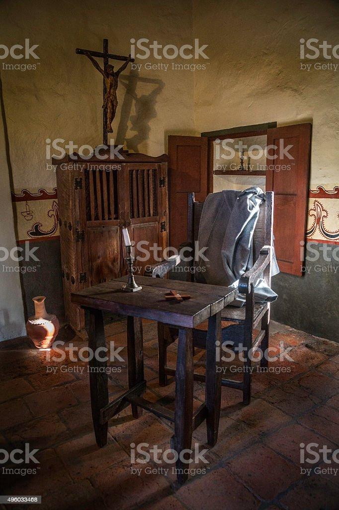 Room in the San Juan Capistrano Mission stock photo